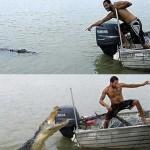 Den store krokodiljägaren blev plötsligt jagad själv.
