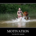 Djur motiverar barn att motionera.