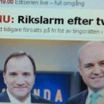 Rikslarm efter två män - Reinfeldt och Löfven.