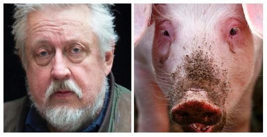 Lika som bär. Leif GW Persson och en annan gris.