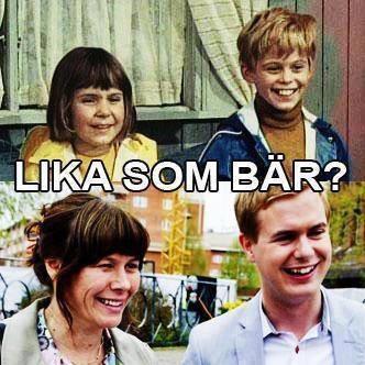 Lika som bär. Tommy & Annika vs Åsa-Nisse Romson och Gustav Fridolin.