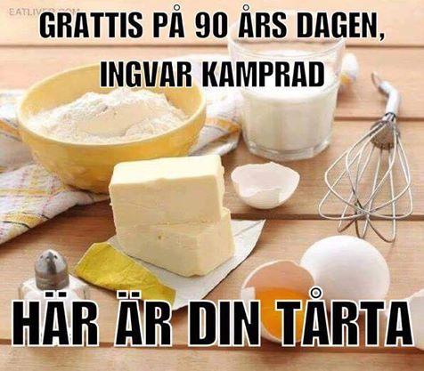 skämt födelsedag Grattis på födelsedagen, Ingvar Kamprad!  En Elak Jävel? skämt födelsedag