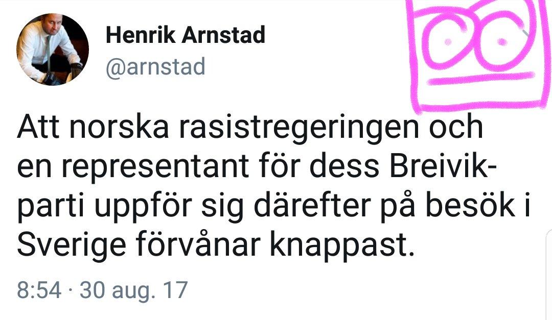 Never go full Arnstad handlar om Henrik Arnstad och här är en tweet från honom.