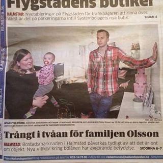 Trångt i tvåan för familjen Olsson.