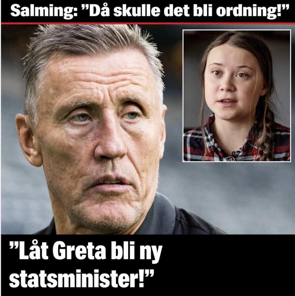 Börja Salming förolämpar Löfven med Gretas hjälp?!