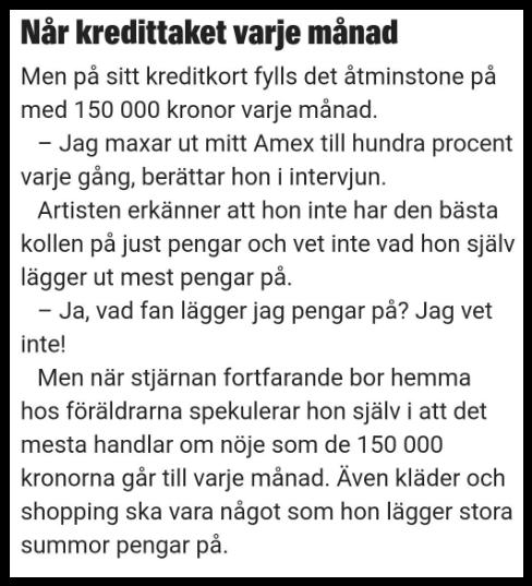 Zara Larsson dubbelmoral