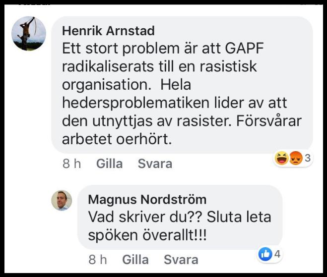 Henrik Arnstad är pinsam och hoppar på GAPF.