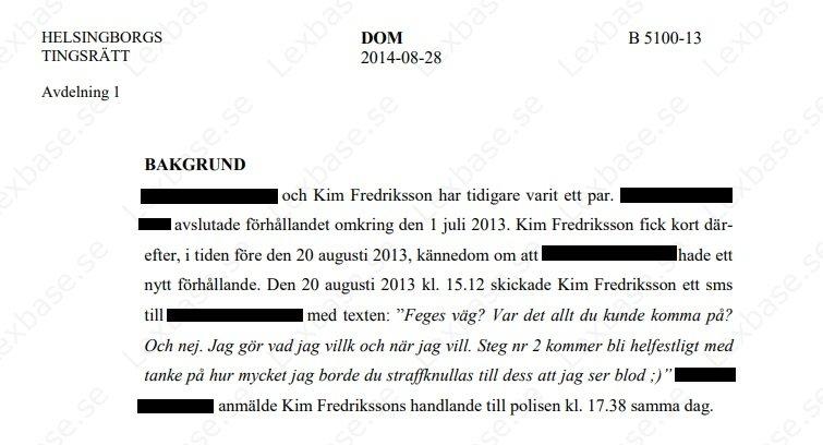 Kim Fredriksson dömd för brott