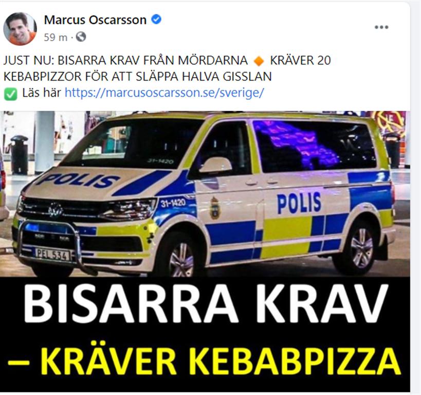 Två töntar och mördare på fängelset i Eskilstuna tog gisslan och krävde den 21 juni bland annat 20 pizzor